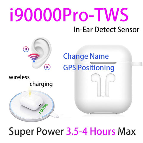 i90000 Pro TWS Airpodering Pro Wireless Earphone 8D Super Bass H1 Chip Bluetooth 5.0 Earphone Earbuds for All Smartphone - Itstechy.com