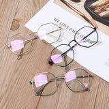 Men Vintage Anti Blue light Clear Glasses Metal Frame Round Vision Care Classic Eyewear Women Lens Myopia Optical Mirror Eyewear