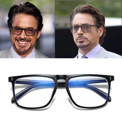 Anti Blue Light Glasses Blocking Filter Reduces Tony Stark Eyewear Strain Clear Gaming