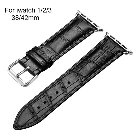 Quality Genuine Cow leather Watchband Strap For Apple Watch Band Bracelet 38mm 42mm Series 1 2 3 For iWatch New SALE - Itstechy.com