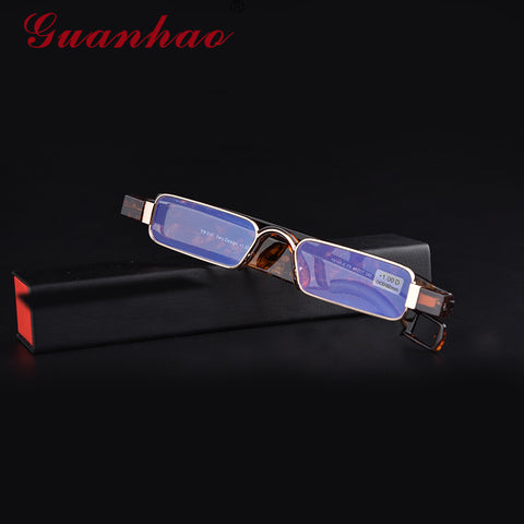 Aniti Bue Light Ray Folding Reading Glasses Men Women Rotating