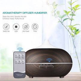 Led Diffuser 3M Remote control Ultrasonic Humidifier Aroma Diffuser Air Humidifier 550mL essential oil diffuser umidificador - Itstechy.com
