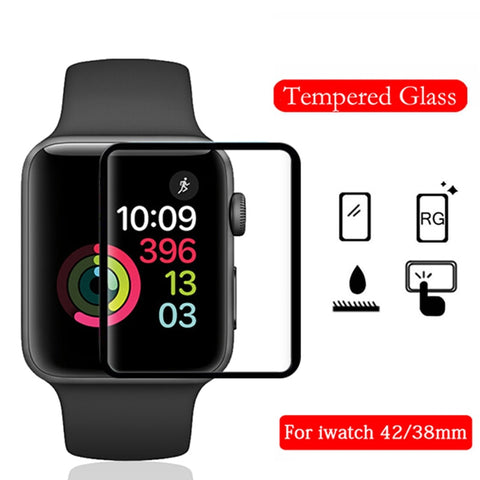 full cover tempered glass for Apple watch bands 42mm screen protector for iwatch 38mm protective film Explosionproof glass funda - Itstechy.com