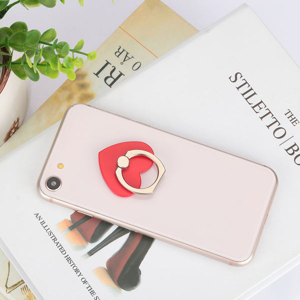 Universal Handphone Supply Finger Grip Mobile Phone Stand Cell Phone Holder Heart Shape Metal Rotatable Mobile Accessory - Itstechy.com