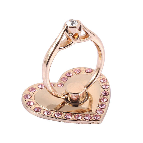 Universal Accessories Bracket Cell Phone Stand Mobile Phone Holder 360 Degree Rotation Diamond Heart Support Supplies - Itstechy.com