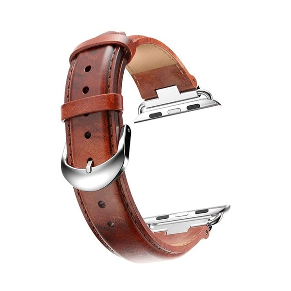 luxury Genuine Leather Strap for Apple Watch Band 42mm 38mm Classic Vintage Wrist Belt Watchband for iwatch Series 3/2/1 - Itstechy.com