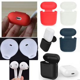 Silicone Shock Proof Protective Case Sleeve Skin Cover for AirPods True Wireless Headphone Charging (Green) - Itstechy.com