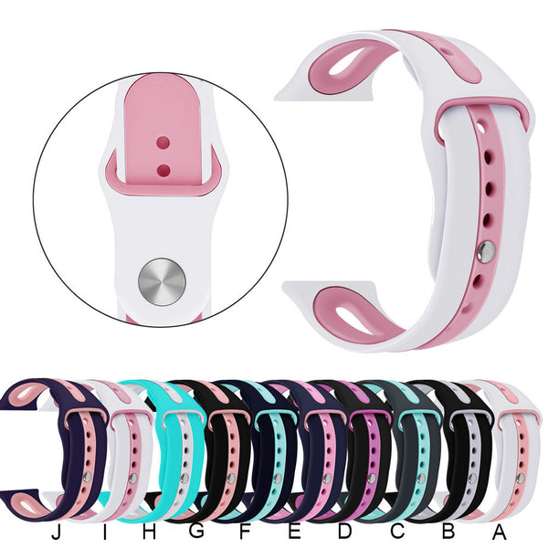 Large Silicone Bracelet Watch Band Wrist Strap For Apple iWatch Series1 2 3 38mm - Itstechy.com