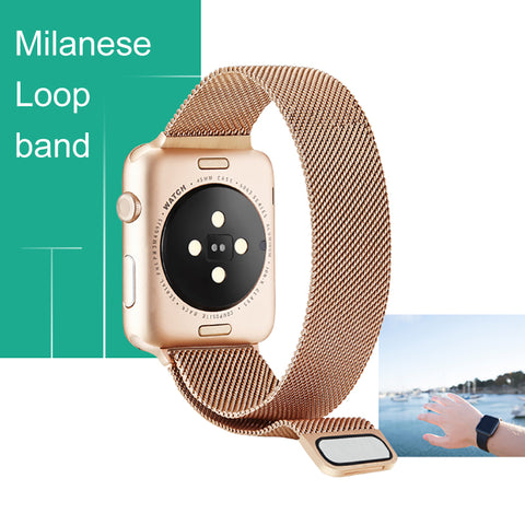 Milan Magnetic Strap for Apple IWatch Band 44mm 42mm 40mm 38mm I Watch 38 40 42 44 Stainless Steel Metal Bracelet Wrist Strap - Itstechy.com