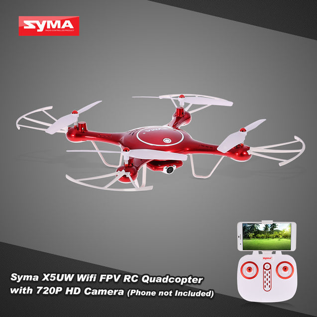 Original Syma X5UW Wifi FPV RC Drone 720P HD Camera RTF Quadcopter with Headless Mode and Barometer Set Height Function - Itstechy.com