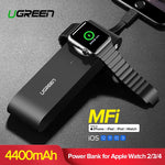 Ugreen Wireless Charger Power Bank 4400mAh for Apple Watch 4/3/2 iPhone X 8 External Battery Charger for Mobile Phones Poverbank - Itstechy.com