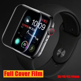 Full Protective Soft Film for Apple Iwatch Screen Protector Band 4 2 1 42mm 40mm 44mm 38mm I watch 3 42 38 mm Not Tempered Glass - Itstechy.com