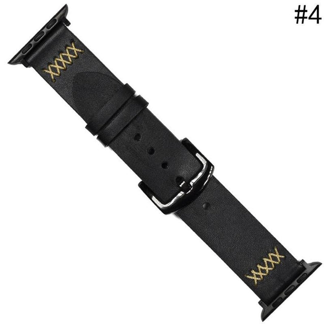 Genuine Leather Wrist Strap Band 38/42mm for Apple Watch iWatch Series 3/2/1 - Itstechy.com