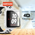 Suntaiho 4D Full Cover For apple watch 4 screen protector Soft Edge Full gel glass Film for Apple Watch 4 3 2 1 40 44 mm screen - Itstechy.com
