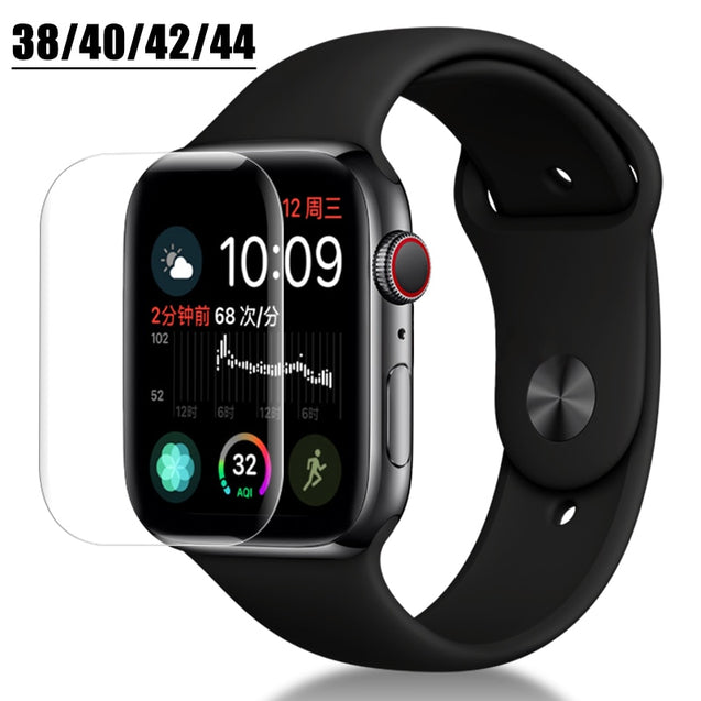 Full Protective Film for Apple Iwatch Screen Protector Bands 42mm 44mm 40mm 38mm i watch 4 3 2 1 Soft Films Not Tempered Glass - Itstechy.com