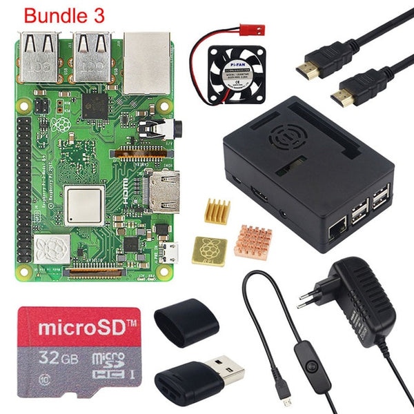Raspberry Pi 3 Model B+ 3.5 inch Touchscreen LCD + ABS Case + 32GB SD Card + 3A Power Adapter + Heatsinks + HDMI for RPI 3B Plus - Itstechy.com