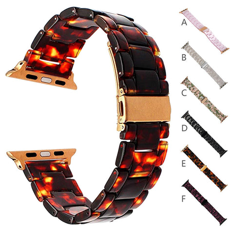 Luxury Crystal Resin Bling Agate Beads Watch Band Wrist Strap For Iwatch 38MM   - Itstechy.com
