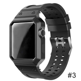 Waterproof surfing Swimming Silicone Replacement Strap Sport Watch Band For iWatch Band 38mm/42mm - Itstechy.com