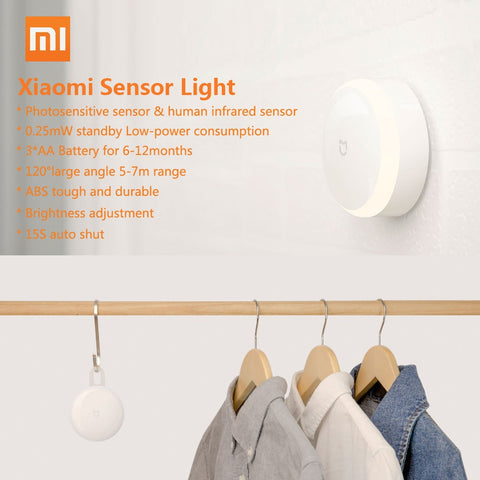 Xiaomi Mijia Induction Night Light Infrared Remote Smart Control Auto-Sensor Human Body Motion Sensor Adjustable Brightness for Smart Home - Itstechy.com