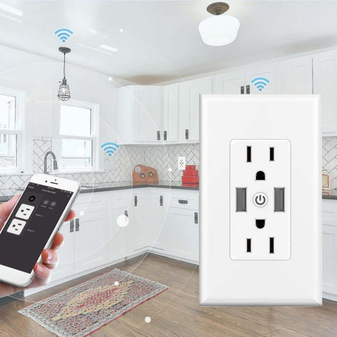 Multifunction Wifi Smart Socket Dual USB Voice APP Control Timing Switch for Home Automation Appliance Wall Plug - Itstechy.com