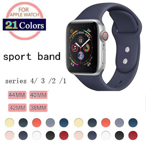 Soft Silicone Replacement Sport Band For Apple Watch Series 1/2/3 42mm 38mm Wrist Bracelet Strap for iWatch 4 40mm 44mm Sports - Itstechy.com