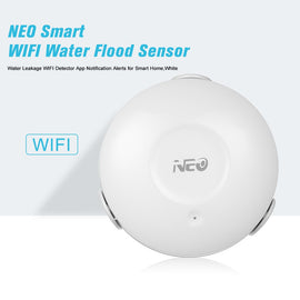 Smart WIFI Water Flood Sensor Water Leakage WIFI Detector App Notification Alerts for Smart Home,White - Itstechy.com