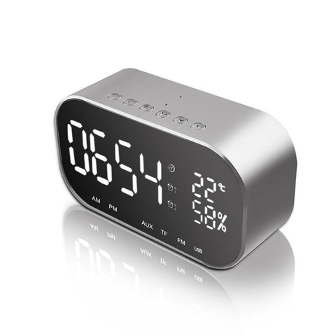 Multifunction LED Livingroom Alarm Clock Portable BT Wireless Mini Subwoofer Speaker with Mirror Function - Itstechy.com