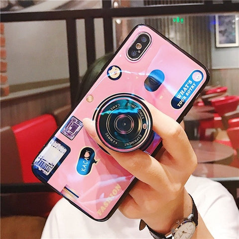 Phone Case For Xiomi Xiaomi mi 8 lite Case Luxury Popsocket Cover For Redmi note 6 Pro 6 6A 5 Case MI max 3 mix 3 Pocophone F1 - Itstechy.com
