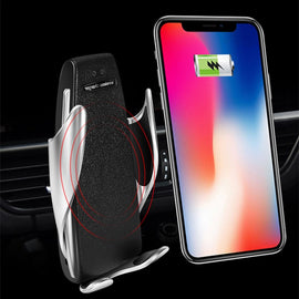Newest 10W Qi Car Wireless Charger For iPhone XS X 8 Automatic Car Air Vent Mount Holder Fast Wireless Charging for Samsung S9 - Itstechy.com
