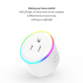 Smart Wifi Socket Phone APP Remote Control Home Automation Timer Voice Control Switch Wall Plug with RGB LED Light - Itstechy.com