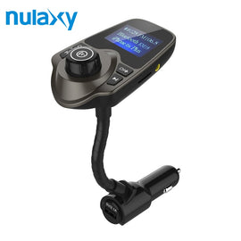 Nulaxy Bluetooth Car FM Transmmitter Audio Adapter Receiver Wireless Handfree Voltmeter Car Kit With 1.44 inch Screen MP3 Player - Itstechy.com