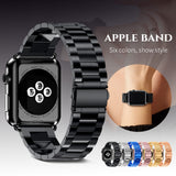 New Stainless Steel Strap Band for Apple Watch Band Sport Edition Black Silver Gold Watchband 38 40mm 42 44mm for iWatch band - Itstechy.com