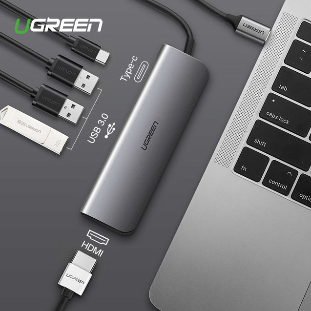 Ugreen USB-C Thunderbolt 3 Dock USB Type C to 3.0 HUB HDMI Adapter for MacBook Huawei Mate 20 P20 Pro Convert Type-C Converter - Itstechy.com