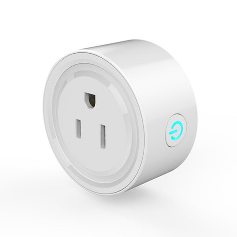 Round Shape Mini Smart Socket Wireless WiFi Power Plug APP Remote Control Timing Switch Socket for Home Automation System - Itstechy.com