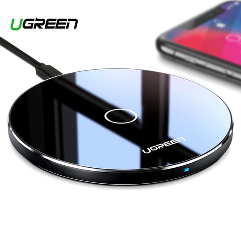 Ugreen 10W Qi Wireless Charger for iPhone X XS XR 8 Plus Fast Wireless Charging Pad for Samsung S8 S9 S10 Xiaomi mi 9 Charger - Itstechy.com