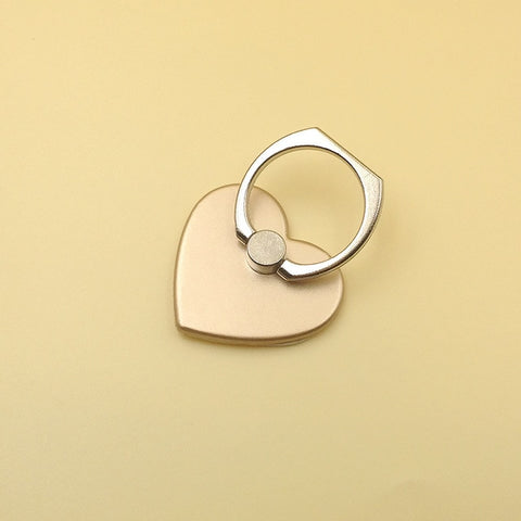 Universal Finger Ring Heart Shape  Mobile Phone Smartphone Stand Holder For iPhone Xiaomi Samsung Smart Phone Car Mount Stand - Itstechy.com