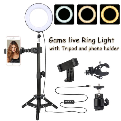 Led Ring Light with Tripod Stand Dimmable 3200-5500K Photography Photo Studio Light Game Video Makeup Live LED Selfie Ring Light - Itstechy.com