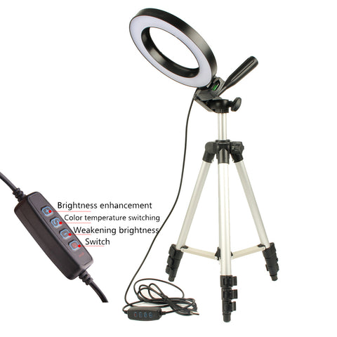 Studio Video Lamp Tripods Selfie Stick Stand Ring Fill Light For Canon Nikon Dimmable LED Studio Camera Phone Video Light - Itstechy.com