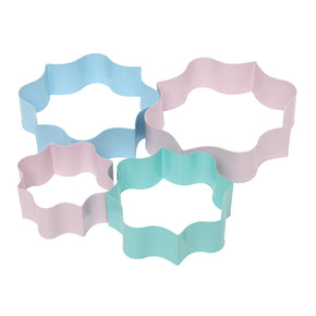 Plaque Cookie Cutters Set of 4