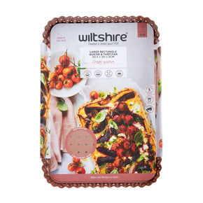 Rose Gold Perforated Rectangle Quiche & Tart Pan Large