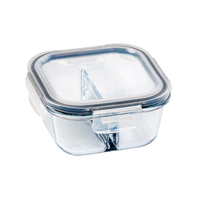 Glass Food Container Square Divided 500ml