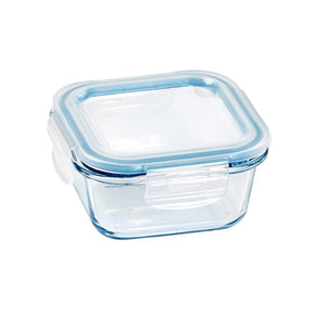 Glass Food Container Square 300ml