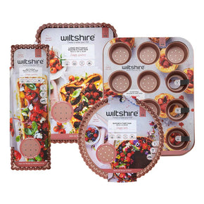 Rose Gold Perforated Bakeware Bundle