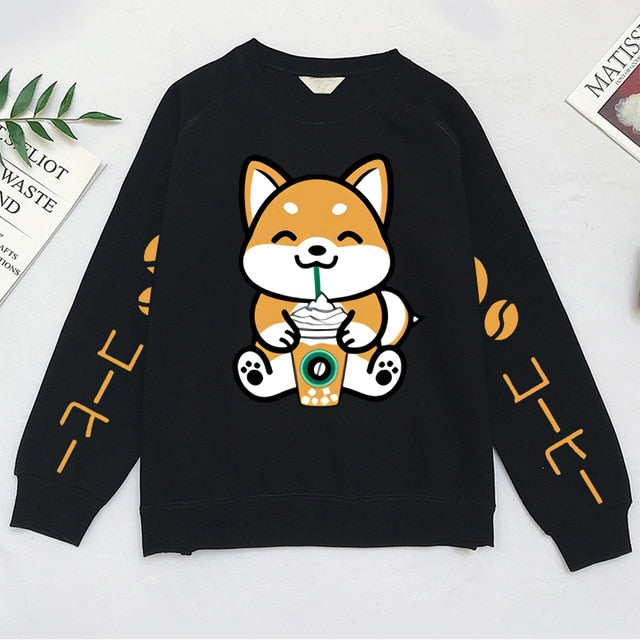 [Coffee Frappe Collection] Shiba Inu Unisex Crewneck Sweatshirt