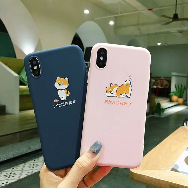 """Shobe Daily Life"" soft case for iPhone [Wiggly Tail Edition]"