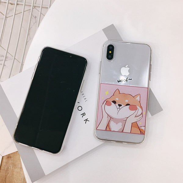 """Squishy Shiba"" Soft Phone case for iPhone X, 6, 6s, and 8+"
