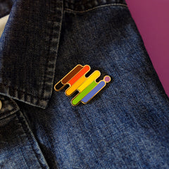 QPOC Philly Pride Enamel Pin by Bianca Designs