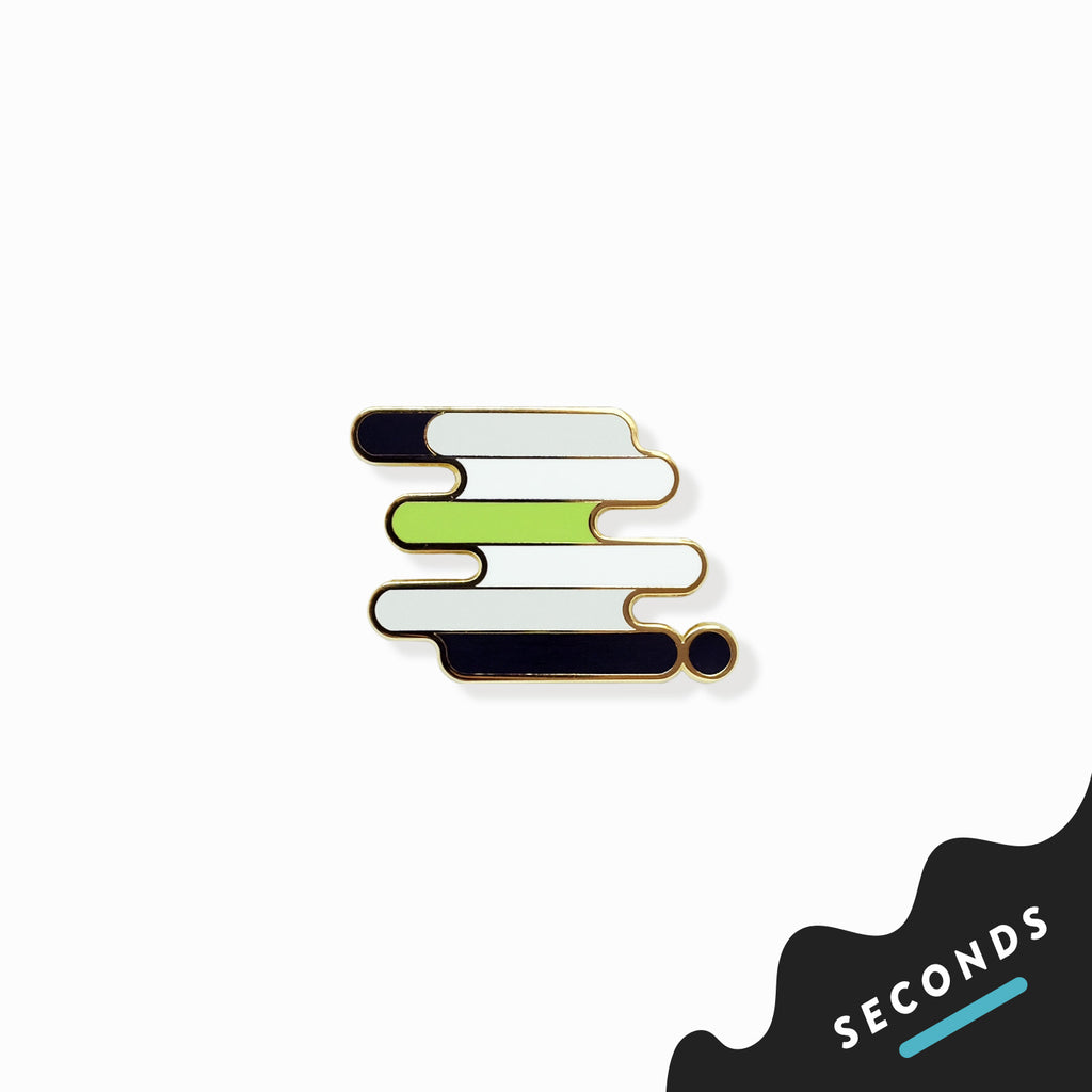 Seconds Sale - Agender Pride Pin