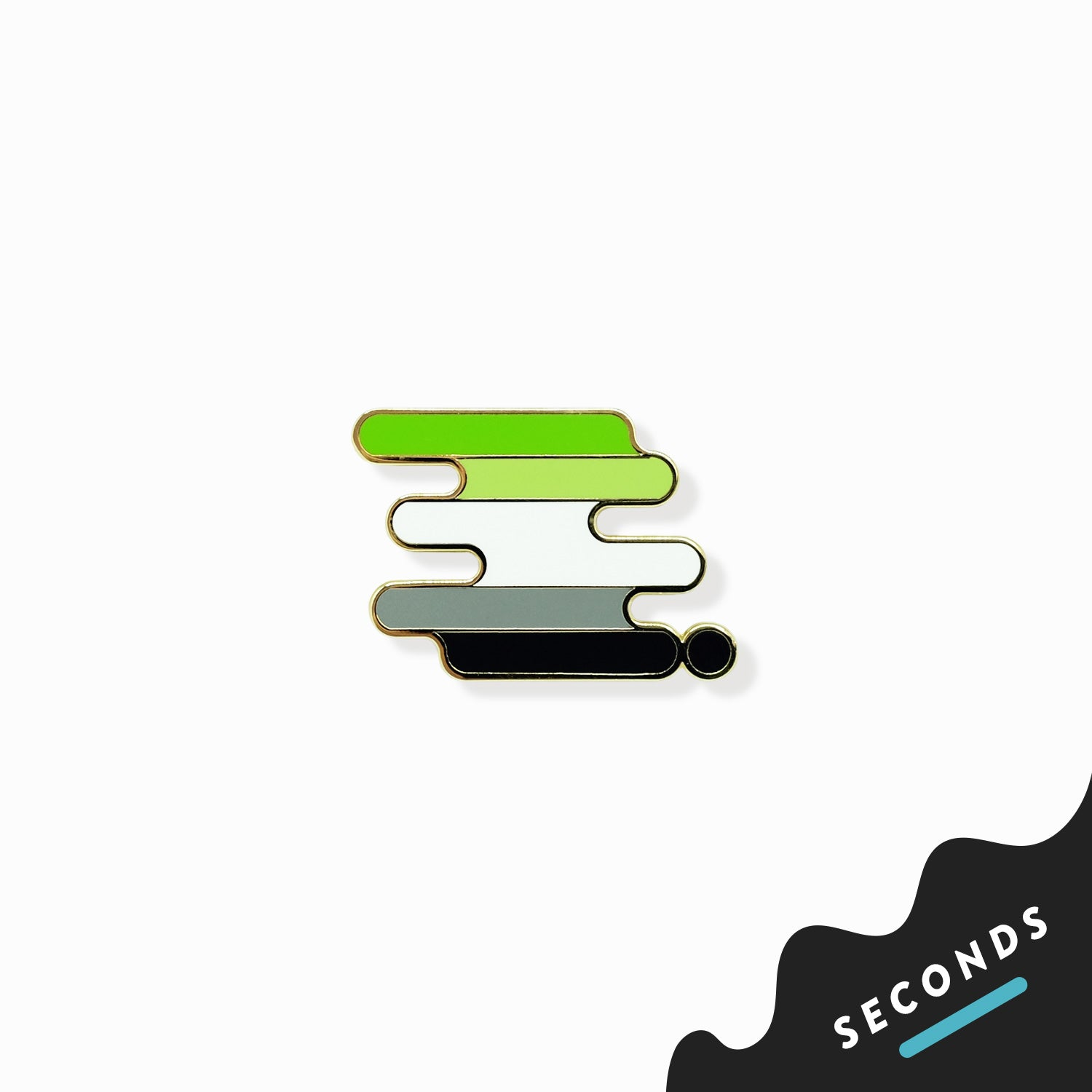 Seconds Sale - Aromantic Pride Pin