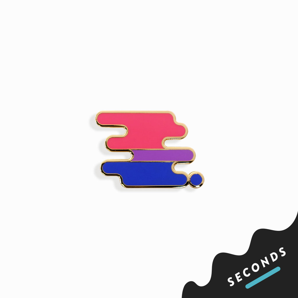 Seconds Sale - Bisexual Pride Pin
